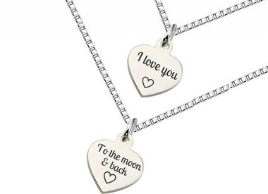 Mother and Daughter necklaces (silver)