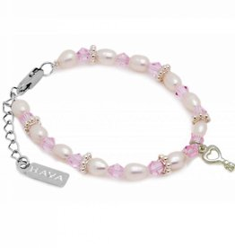 KAYA jewellery Girls Bracelet 'Infinity Pink' with Key
