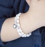 KAYA jewellery Luxury Girls Double Bracelet 'Infinity Pink' with Heart