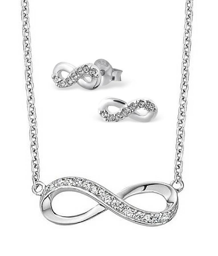 KAYA jewellery Silver Necklace & Earings 'Infinity Forever'