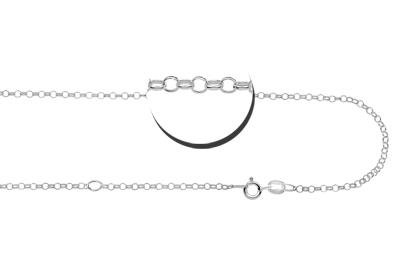 KAYA jewellery Silver jasseron necklace (2 lengths)