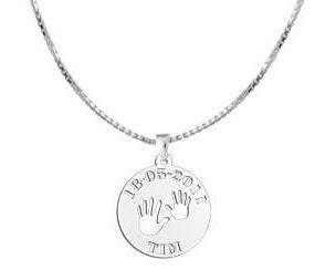 "KAYA jewellery Silver Baby pendant ""Baby hands"""