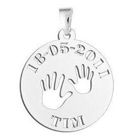 "KAYA jewellery Names4ever Silver Baby pendant ""Baby hands"""