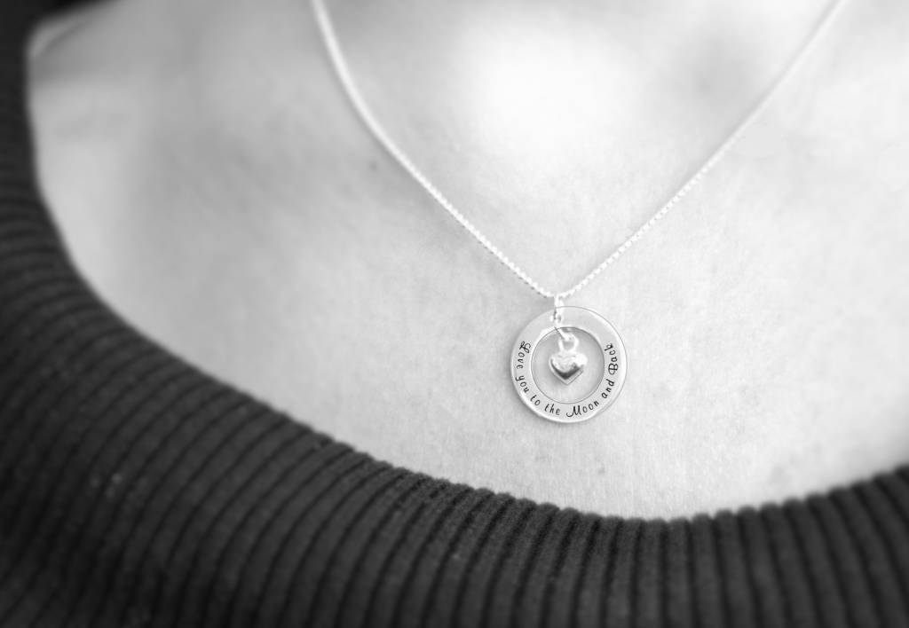 KAYA jewellery 2 Silver Necklaces 'The love between Mother and Daughter is Forever'