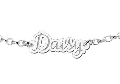 KAYA jewellery Personalised Silver name bracelet