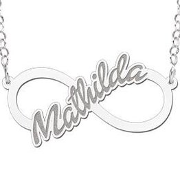 KAYA jewellery Names4ever Silver personalised infinity necklace 'Your name'