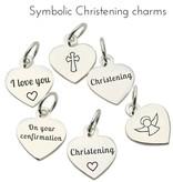 KAYA jewellery 'Infinity White' Cross Christening - Communion Bracelet for Boys & Girls