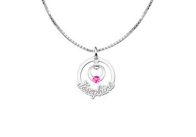 KAYA jewellery Engraved Silver Communion Pendant with Name