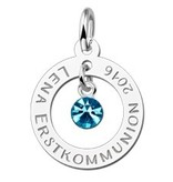 KAYA jewellery Engraved Sterling Pendant First Holy Communion
