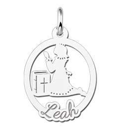 KAYA jewellery Engraved Silver Communion Gift Girl with Name