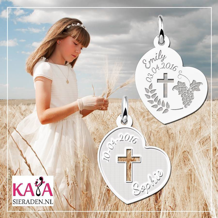KAYA jewellery Engraved Silver Communion Gift Boy with Name