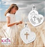 KAYA jewellery Heart Shaped Silver Communion Pendant