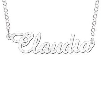 KAYA jewellery Silver Personalised Necklace 'Your name'