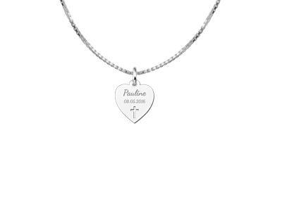 KAYA jewellery Communion Heart Pendant with Cross