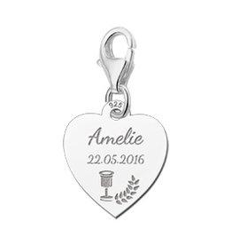 KAYA jewellery Names4ever 925 Silvers Communion Heart Charm