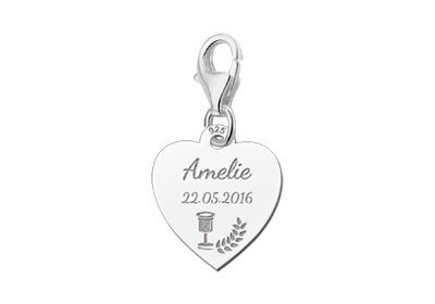 KAYA jewellery 925 Silvers Communion Heart Charm