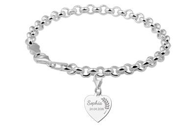 KAYA jewellery Holy Communion Silver Heart Charm