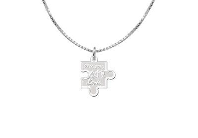 KAYA jewellery Engraved Communion Pendant Puzzle Pendant