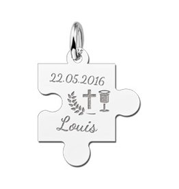 KAYA jewellery Sterling 1st Communion Puzzle Piece