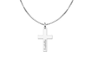 KAYA jewellery Silver Communion Cross Pendant Gift