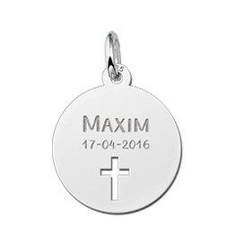 KAYA jewellery Names4ever Communion Silver Pendant with Cross