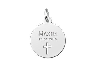 KAYA jewellery Communion Silver Pendant with Cross