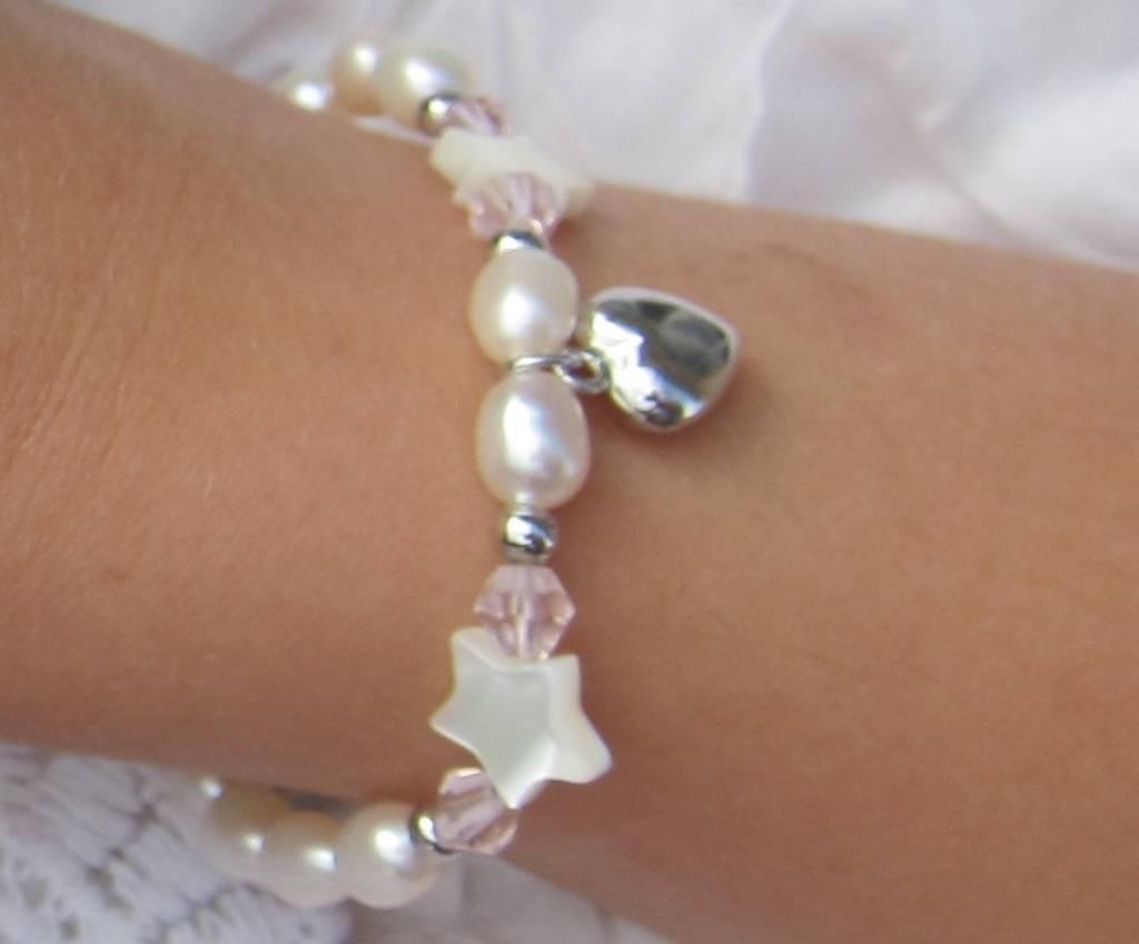 KAYA jewellery Silver Mom & Me Bracelet 'Little Star' Crowns