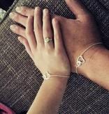 KAYA jewellery Silver Mum & Me Bracelets set 'Connected'