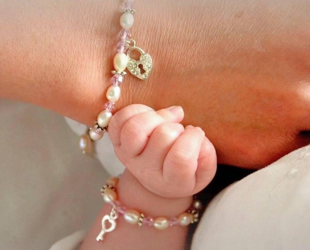 KAYA jewellery Mom & Me bracelets 'Infinity pink' without charms