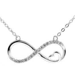 KAYA jewellery Silver Necklace 'Infinity Forever in my Heart