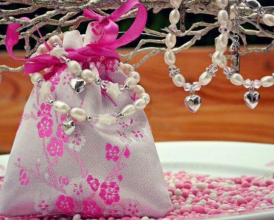 KAYA jewellery Mom & Me bracelets 'Infinity White' butterfly