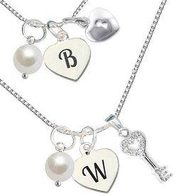 "KAYA jewellery Silver chains set ""Key to my Heart """