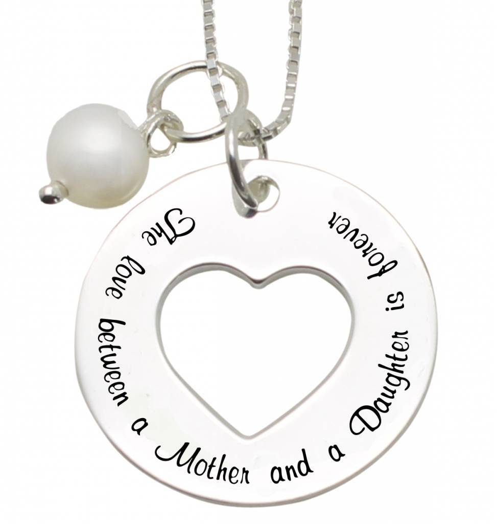 "KAYA jewellery Silver Mother Necklace ""The love between Mother and Daughter'"