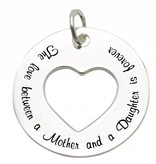 KAYA jewellery Silver Pendant 'The love between Mother and Daughter is forever'