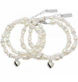 "KAYA jewellery Mom & Me set ""Infinity White Luxury"" heart"