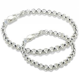 KAYA jewellery Trendy silver bracelets, mom & me Chain