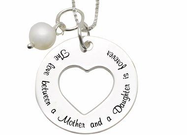 Jewellery with Mum texts (silver)