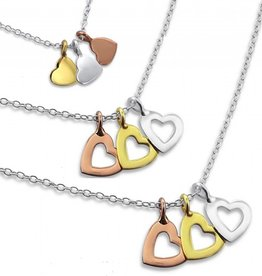 "KAYA jewellery Three Generation Silver Necklaces ""Triple Love"""