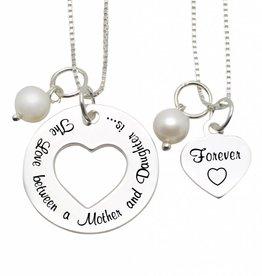 KAYA jewellery Mom & me necklace 'The love between Mom & Daughter'