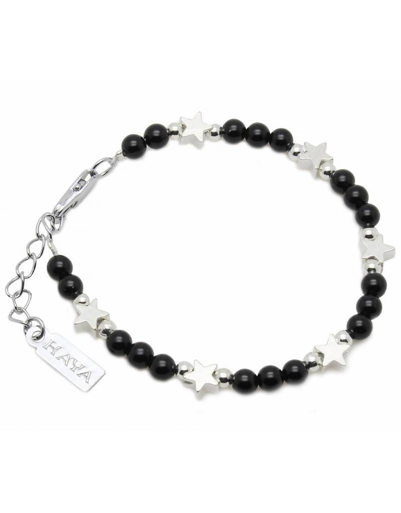 "KAYA jewellery Children's bracelet ""Shine Bright Black"""