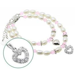 KAYA jewellery Silver Mom & Me Bracelet Set 'Little Diva' Together