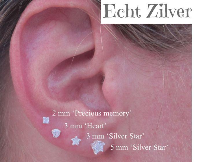 KAYA jewellery Sterling Silver Star Earrings