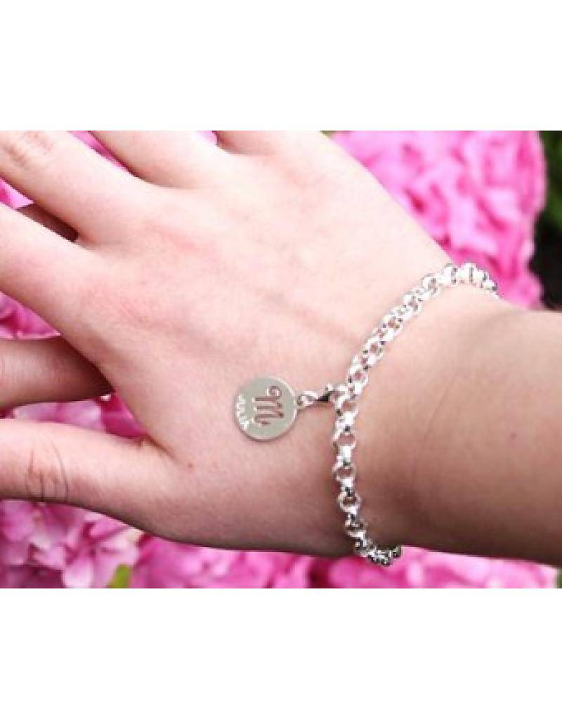 KAYA jewellery Engraved silver charm 'Baby Hands'