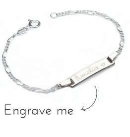 KAYA jewellery Silver Engraved Bracelet 'Cute'