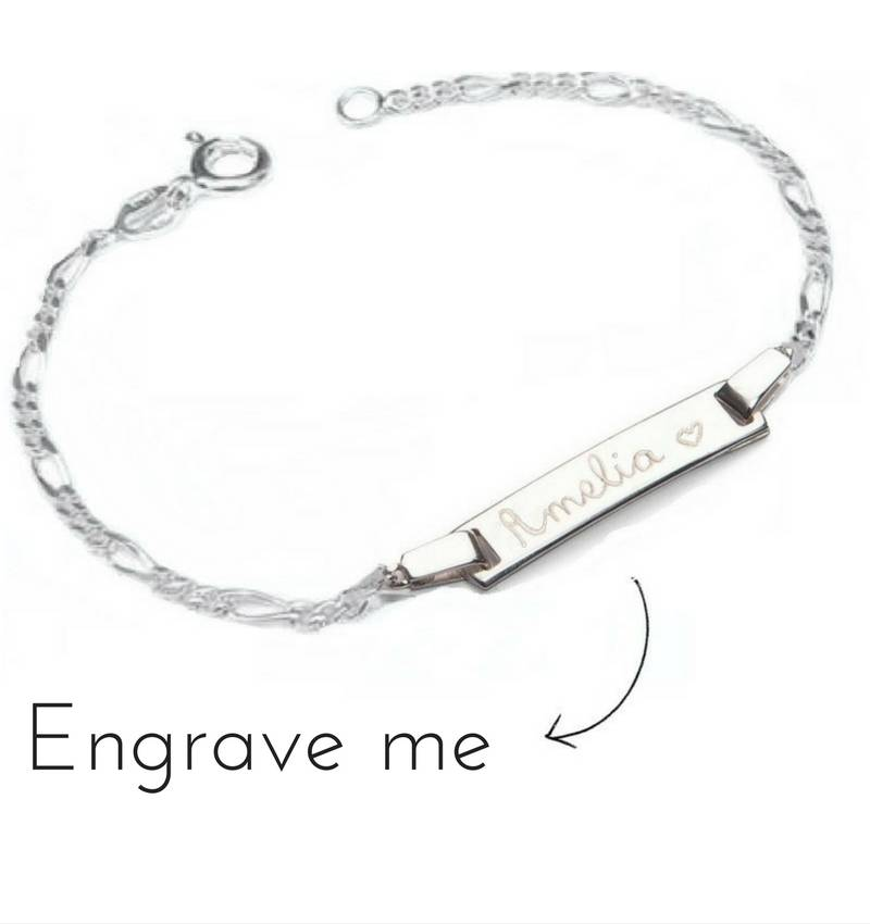 6f0763fdfdf15 Silver Bracelet with 2 Engraved Charms