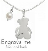 """KAYA jewellery Silver necklace """"Bear"""" with first name engraving"""