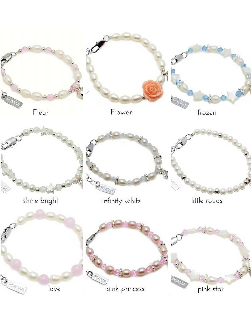 KAYA jewellery Personalized Mother and Daughter Bracelets Set
