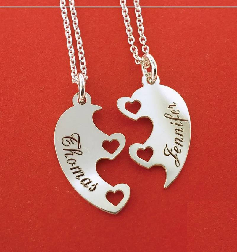 KAYA jewellery Silver friendship necklaces for 2