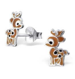 KAYA jewellery Children's Silver Deer Ear Studs