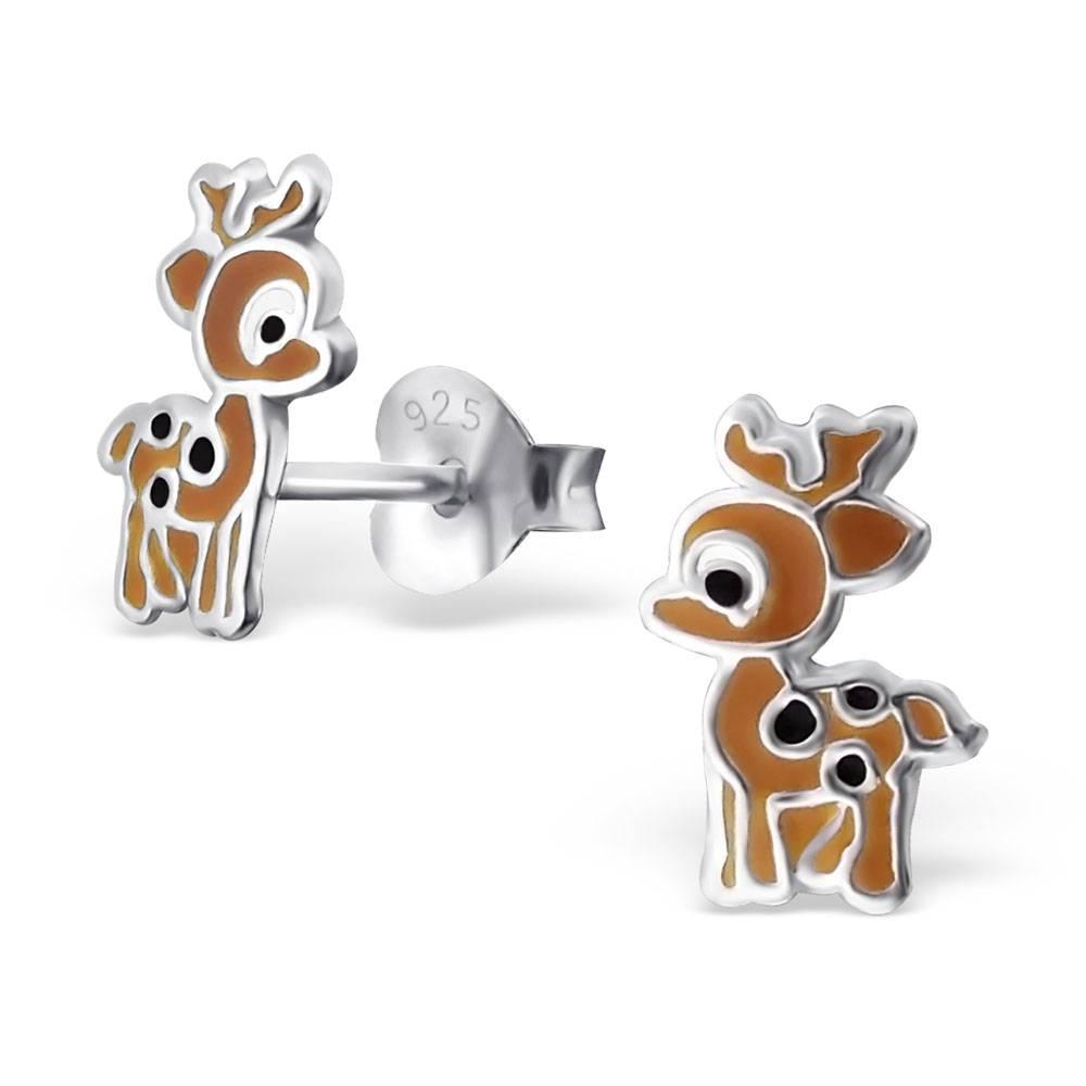 KAYA jewellery Children's Silver Deer Ear Studs